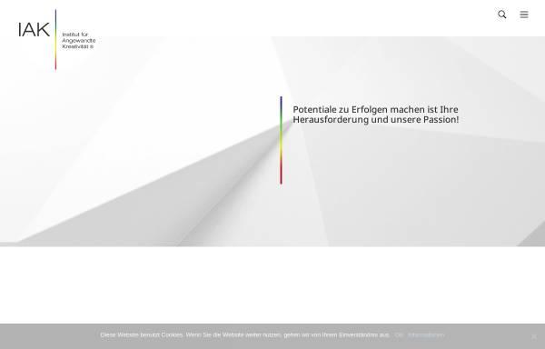 Vorschau von www.iak.de, IAK - Institut für angewandte Kreativität