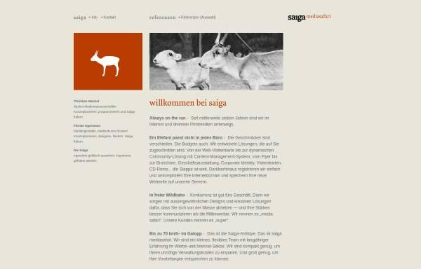Vorschau von www.saiga.de, Saiga Webdesign, Christian Wenzel