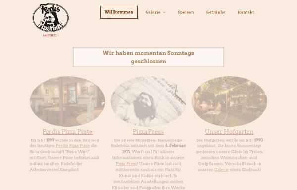 Vorschau von www.ferdispizzapinte.de, Ferdis Pizza Pinte