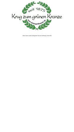 Vorschau der mobilen Webseite www.derkrugintheesen.de, Krug zum grünen Kranze