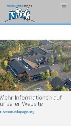 Vorschau der mobilen Webseite realschule-senne.de, Realschule Senne