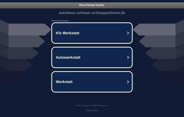 Vorschau von www.scheuer-schneppenheim.de, Autohaus Scheuer und Schneppenheim GmbH & Co. KG