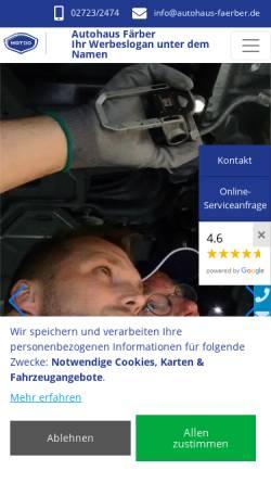 Vorschau der mobilen Webseite www.autohaus-faerber.de, Autohaus Färber