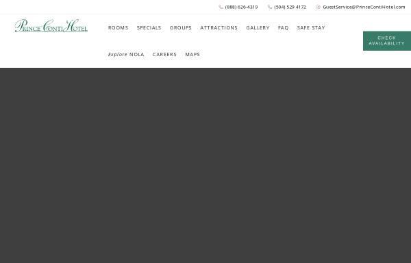 Vorschau von www.princecontihotel.com, CONTI Hotel