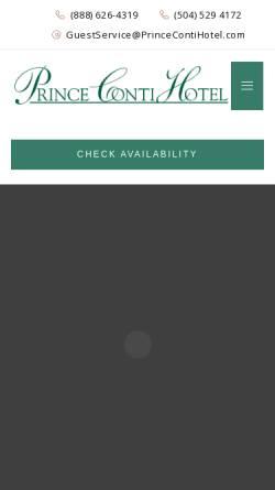 Vorschau der mobilen Webseite www.princecontihotel.com, CONTI Hotel
