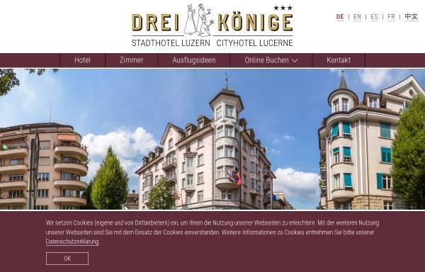 Vorschau von www.drei-koenige.ch, Hotel Drei Könige am Dom