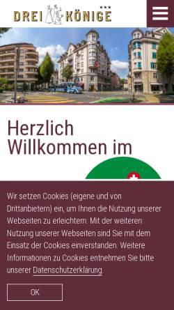 Vorschau der mobilen Webseite www.drei-koenige.ch, Hotel Drei Könige am Dom