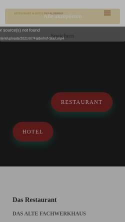 Vorschau der mobilen Webseite www.falderhof.de, Hotel Falderhof