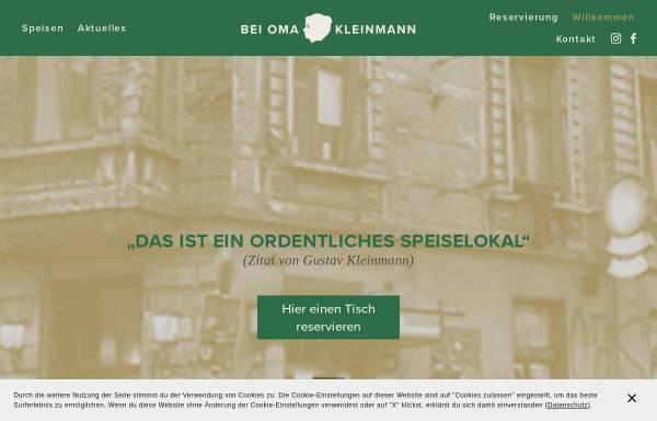 Vorschau von www.beiomakleinmann.de, Bei Oma Kleinmann