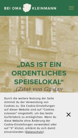 Vorschau der mobilen Webseite www.beiomakleinmann.de, Bei Oma Kleinmann