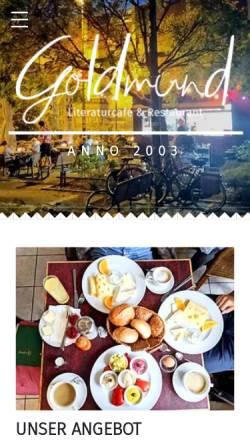 Vorschau der mobilen Webseite www.goldmundkoeln.de, Goldmund