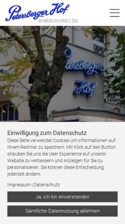 Vorschau der mobilen Webseite www.p-hof.de, Petersberger Hof