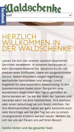 Vorschau der mobilen Webseite www.waldschenke-koeln-duennwald.de, Waldschenke