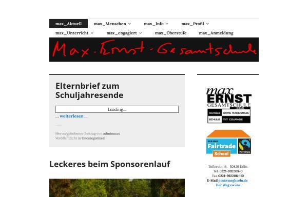 Vorschau von www.max-ernst-gesamtschule-koeln.de, Max-Ernst-Gesamtschule Bocklemünd