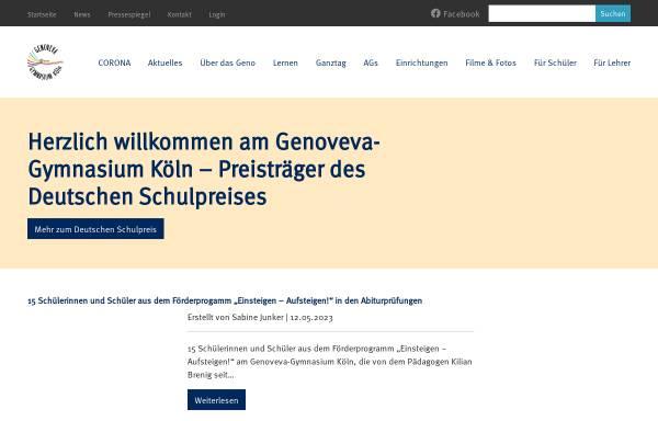 Vorschau von www.genoveva-gymnasium.de, Genoveva Gymnasium Köln