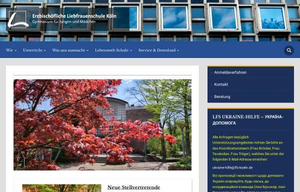 Vorschau von lfs-koeln.de, Liebfrauenschule Köln
