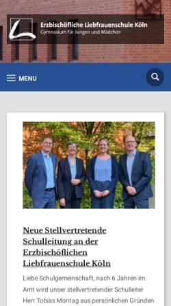 Vorschau der mobilen Webseite lfs-koeln.de, Liebfrauenschule Köln
