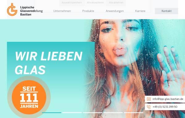Vorschau von www.lipp-glas-bastian.de, Lippische Glas Veredelung Bastian GmbH