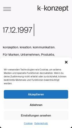 Vorschau der mobilen Webseite www.k-konzept.de, K-Konzept