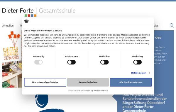 Vorschau von www.dieter-forte-gesamtschule.de, Dieter-Forte-Gesamtschule