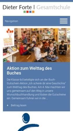 Vorschau der mobilen Webseite www.dieter-forte-gesamtschule.de, Dieter-Forte-Gesamtschule