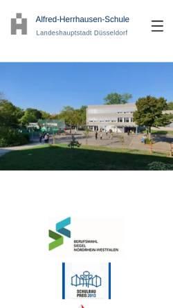 Vorschau der mobilen Webseite www.alfred-herrhausen-schule.de, Alfred-Herrhausen-Schule (Carl-Friedrich-Goerdeler-Straße)