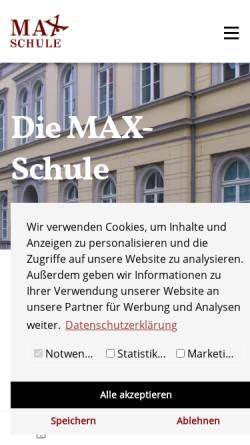 Vorschau der mobilen Webseite maxschule.de, Max-Schule (Citadellstraße)