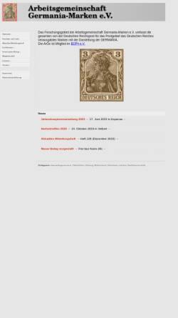 Vorschau der mobilen Webseite www.germania-marken.de, Arbeitsgemeinschaft Germania e. V.