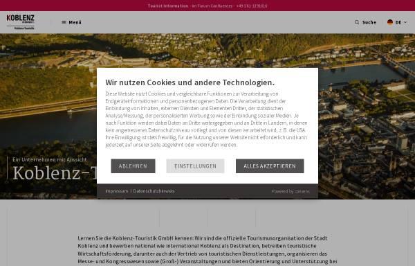 Vorschau von www.koblenz-touristik.de, Koblenz-Touristik