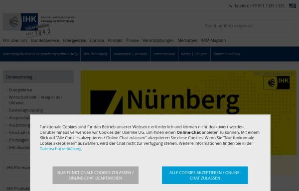 Vorschau von www.ihk-nuernberg.de, IHK Nürnberg für Mittelfranken