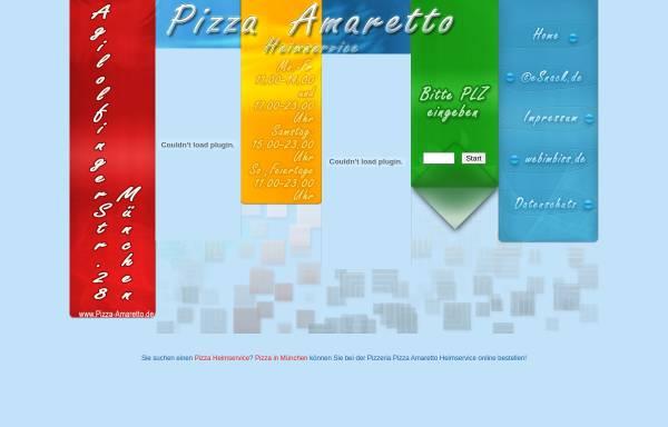 Vorschau von www.pizza-amaretto.de, Amaretto