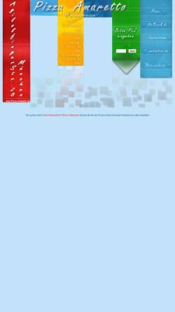 Vorschau der mobilen Webseite www.pizza-amaretto.de, Amaretto