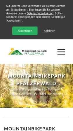 Vorschau der mobilen Webseite www.mountainbikepark-pfaelzerwald.de, Mountainbikepark Pfälzerwald