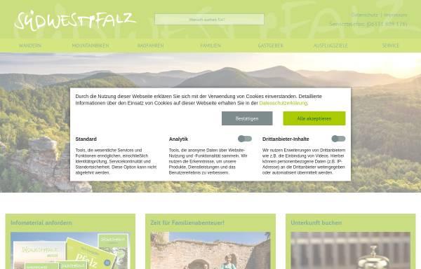 Vorschau von www.suedwestpfalz-touristik.de, Südwestpfalz-Touristik