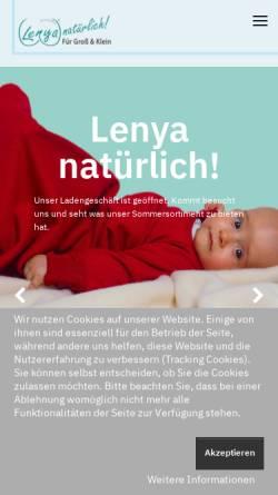 Vorschau der mobilen Webseite www.lenya.de, Lenya natürlich! Sylvia Tiedemann