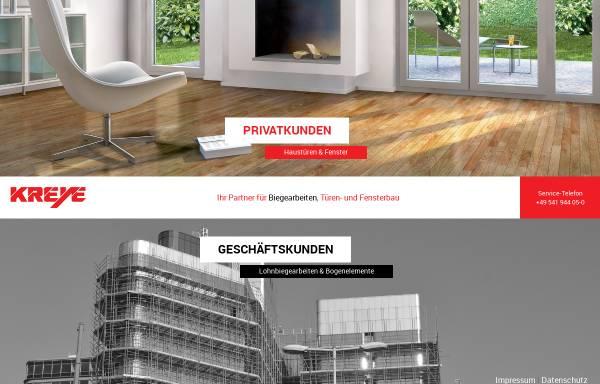 Vorschau von www.kreye-os.de, B. Kreye Kunststoff-, Metall- und Biegetechnik GmbH