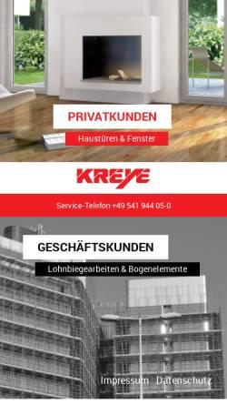 Vorschau der mobilen Webseite www.kreye-os.de, B. Kreye Kunststoff-, Metall- und Biegetechnik GmbH