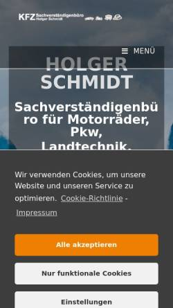 Vorschau der mobilen Webseite www.svb-schmidt.de, Kfz-Sachverständigenbüro Schmidt