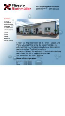 Vorschau der mobilen Webseite www.fliesen-riethmueller.de, Fliesen Riethmüller Beverstedt