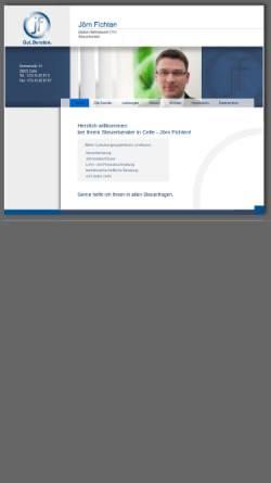Vorschau der mobilen Webseite www.stb-fichten.de, Steuerberater Peter Fichten