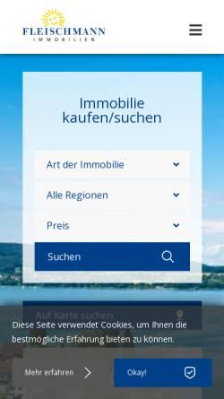 Vorschau der mobilen Webseite www.fleischmann.ch, Fleischmann AG