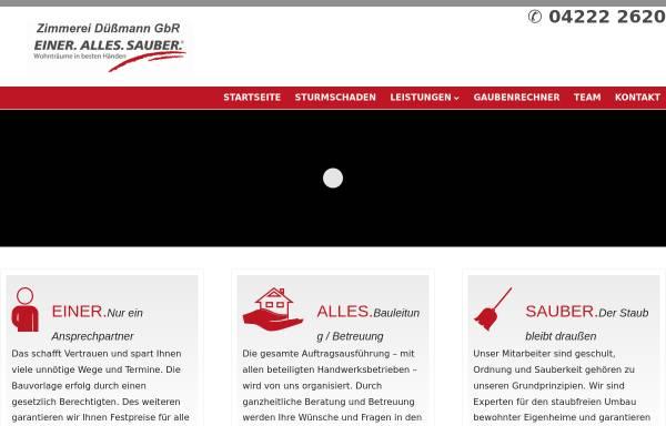 Vorschau von www.zimmerei-duessmann.de, Zimmerei Düßmann