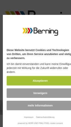 Vorschau der mobilen Webseite www.berning-lackierung.de, Klaus Berning Autolackierung GmbH
