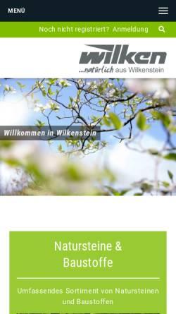 Vorschau der mobilen Webseite www.wilken-melle.de, Alois Wilken GmbH