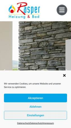 Vorschau der mobilen Webseite www.eberhard-rasper.de, Eberhard Rasper GmbH