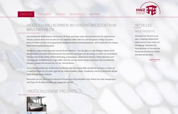 Vorschau von www.hwz-gmbh.de, Handwerkerzentrum [HWZ] Kooperation des Bauhandwerks Bruchmühlen GmbH