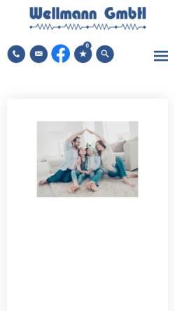 Vorschau der mobilen Webseite www.wellmanngmbh.de, Wellmann GmbH
