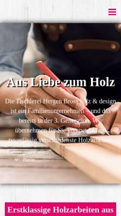 vorschau der mobilen webseite www bross online de hergen bross holz
