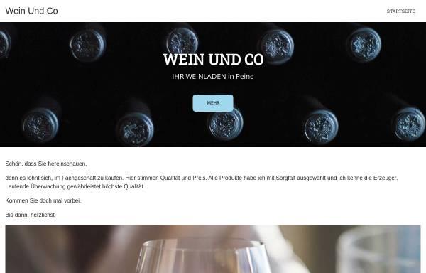 Vorschau von www.wein-und-co.com, Wein & Co. Ingeborg Wennerscheid