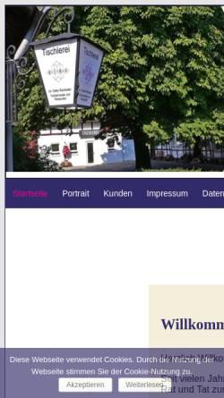 Vorschau der mobilen Webseite www.rimo-online.de, Tischlerei RIMO